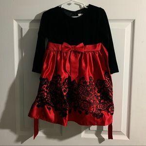 Girls Rare Editions 3T Long Sleeve Dress